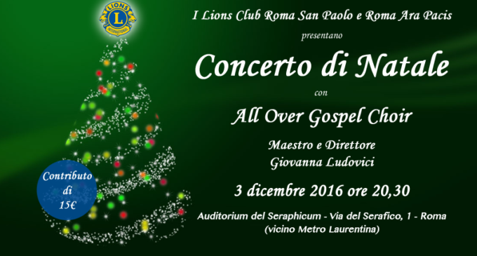 I Lions Club Roma San Paolo e Roma Ara Pacis insieme per il Concerto di Natale