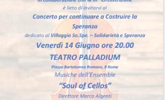 Concerto per 'Continuare a Costruire la Speranza' dedicato alla So.Spe.